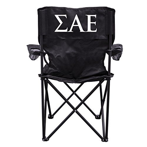 Sigma Alpha Epsilon Black Folding Camping Chair with Carry Bag *** Continue @ http://www.buyoutdoorgadgets.com/sigma-alpha-epsilon-black-folding-camping-chair-with-carry-bag/?jk=260616211927