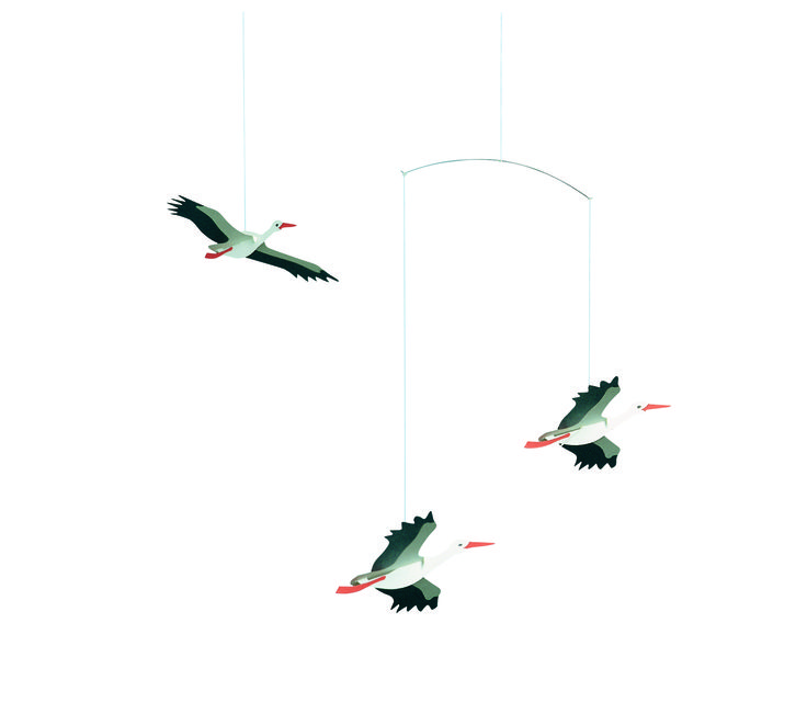 Lucky Storks by Flensted Mobiles