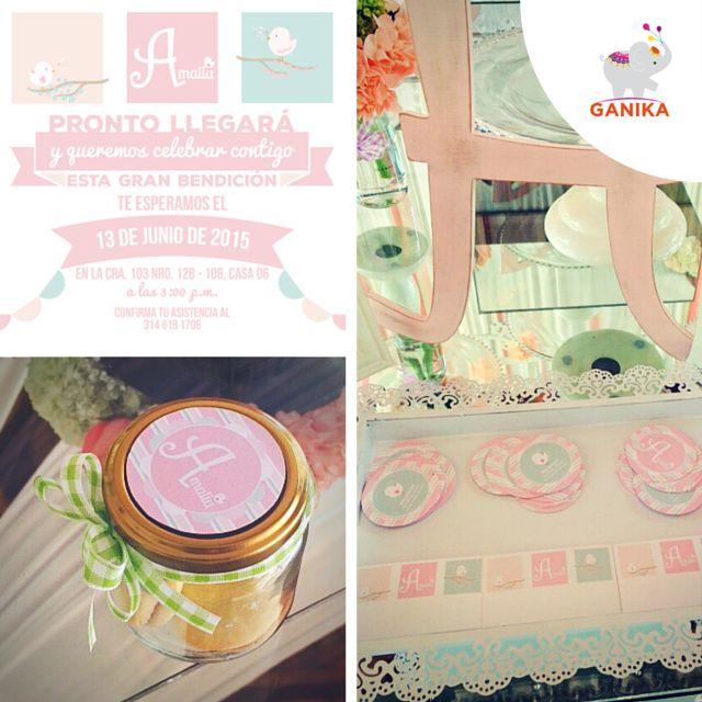 Diseño decoración de Baby Shower temática pajaritos para Amalia.