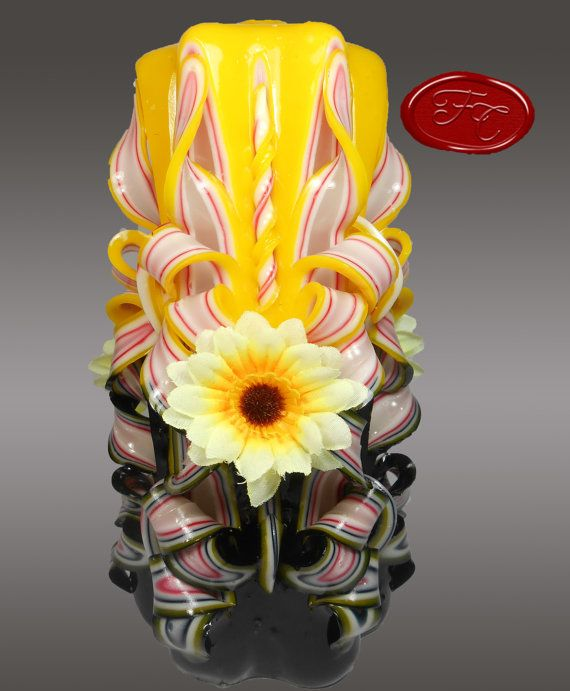 Hand Carved Fancy Candle  Extra Large 8 inches 20 by FancyCandles, $19.99