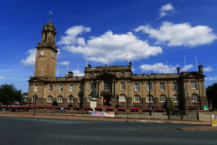 South Shields town hall on Westoe Road.
