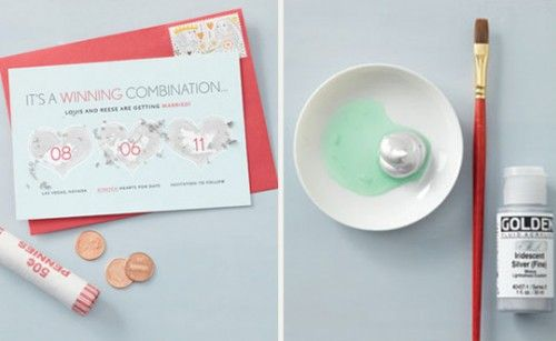 make your own scratch off cards.  so many uses - boy or girl baby, gifts, scavenger hunt...