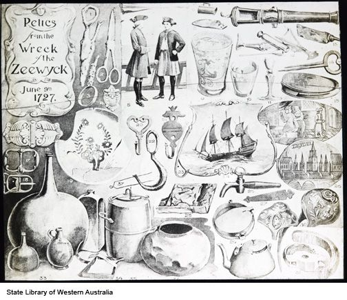 Relics from the wreck of the Zeewyck [ie Zeewijk] June 9th 1727 https://encore.slwa.wa.gov.au/iii/encore/record/C__Rb2562937