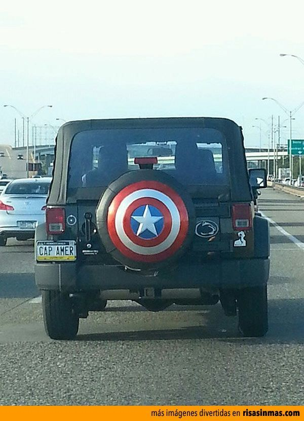 Captain America tire cover