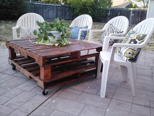 56 best pallet patio furniture images on pinterest decks pallet