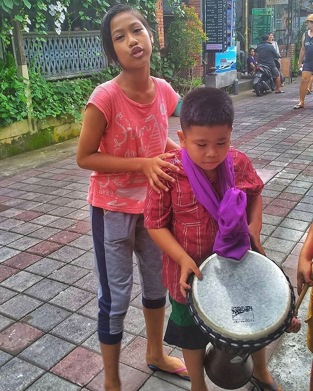 The Little Drummer Boy and His Big Sister Drumming on the