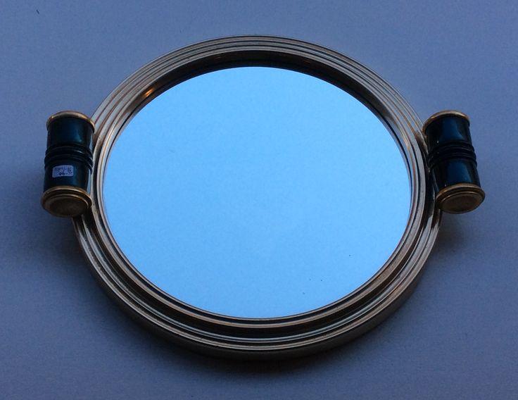peilitarjotin 30-40 luvulta, halkaisija 25cm . mirror-tray from'30s-'40s, diameter 25cm