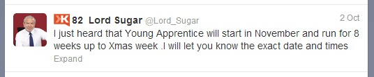 Young Apprentice 2012 coming soon to BBC