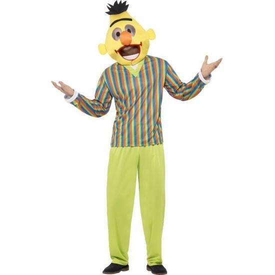 Sesamstraat kostuum Bert  Bert kostuum voor volwassenen. Bert pak uit de bekende serie Sesamstraat. Dit Bert kostuum bestaat uit het gekleurde shirt de groene broek en het Bert hoofd. Materiaal: 100% polyester.  EUR 54.95  Meer informatie  #sinterklaas #zwartepiet