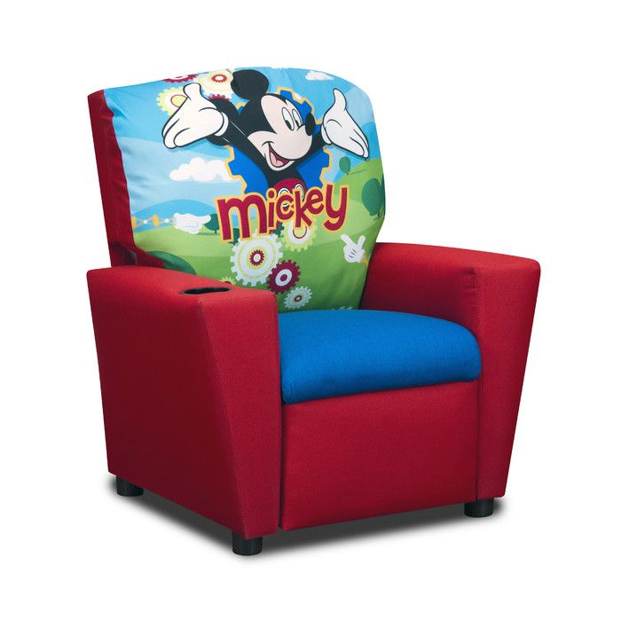 disneys mickey mouse clubhouse recliner all of mickeys excitement shows in the disneys mickey mouse clubhouse red childrens recliner