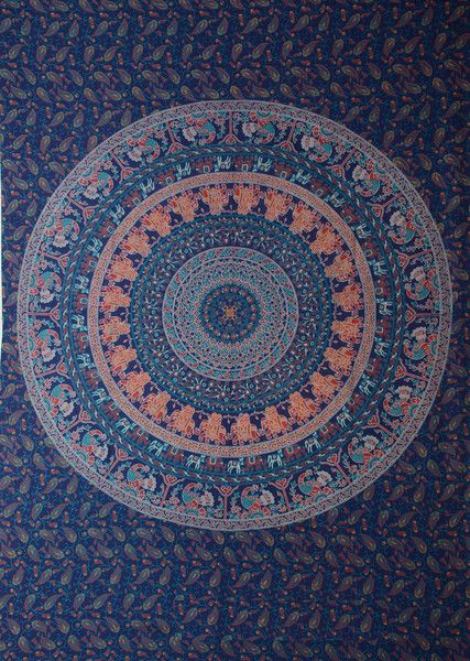 Bedspreads – Indian-Twin-Size-Bohemian-Tapestry-Wall-Hanging – a unique product by IndianCraftPalace on DaWanda