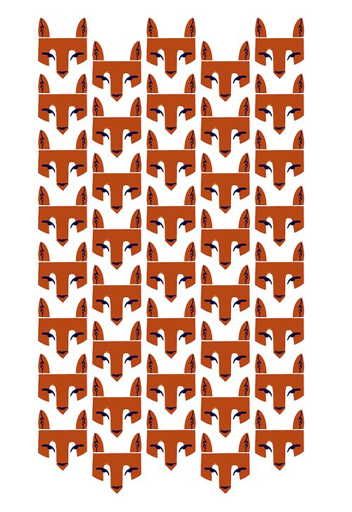 A simple textile repeat, inspired by the Ethiopian Wolf. By Alexander Vidal.