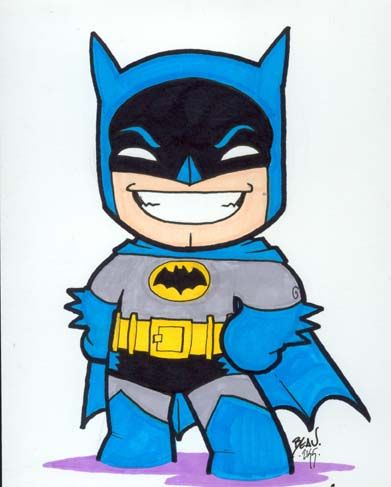 Chibi-Batman 3. by hedbonstudios.deviantart.com on @deviantART