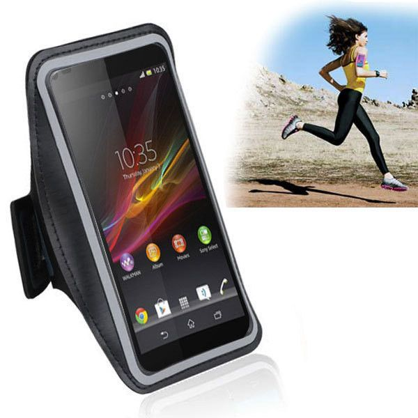 Fashion Waterproof Leather Sports Running Armband Phone Case Belt Wrist Strap GYM Arm Band For Sony Xperia Z1 Compact Mini D5503