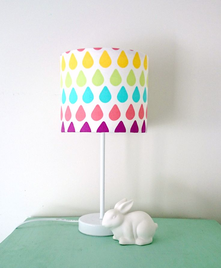 Rainbow Raindrop Lampshade and Base by KBSDESIGNS on Etsy