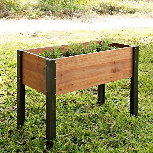 Coral Coast Wood Elevated Garden Bed   40L X 20D X 29H In.   Raised