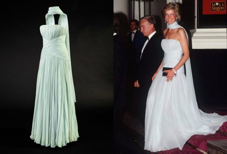 The Princess first wore this evening gown to the Cannes Film Festival in 1987. She loved films and would often sneak out to her local cinema disguised in a scarf and sunglasses  Kensington Palace has honoured the late Princess Diana in a brand-new exhibition of her greatest looks.   Fashion Exhibition | Princess Diana | Kensington Palace