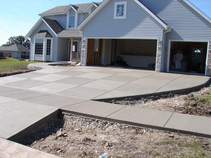 concrete driveway landscaping driveway - Concrete Driveway Design Ideas
