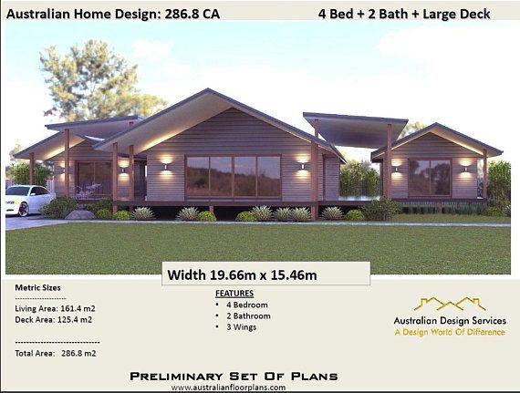 House Plan Sloping Land 3087 Sq Foot 286 8m2 Pavilion