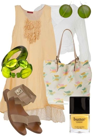 Charming In Citrus Outfit includes Polka Luka, RMK, and Namastai at Birdsnest Online