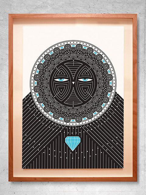 Diamond Owl print by Darren Henderson by MyOwlBarn, via Flickr