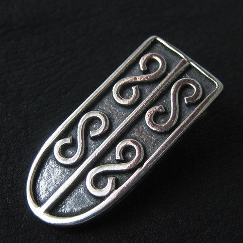 Silver starp end from medieval Poland from The Sunken City by DaWanda.com