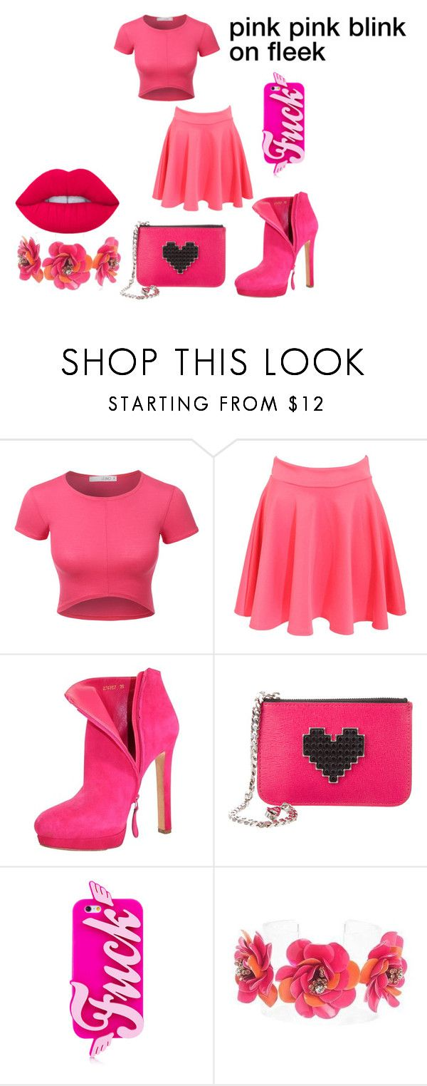 """pink"" by ziar-1 ❤ liked on Polyvore featuring beauty, LE3NO, Pilot, McQ by Alexander McQueen, Les Petits Joueurs and Forest of Chintz"