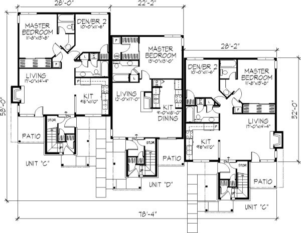 100 ideas to try about multi unit plans apartment floor for Multi unit home plans