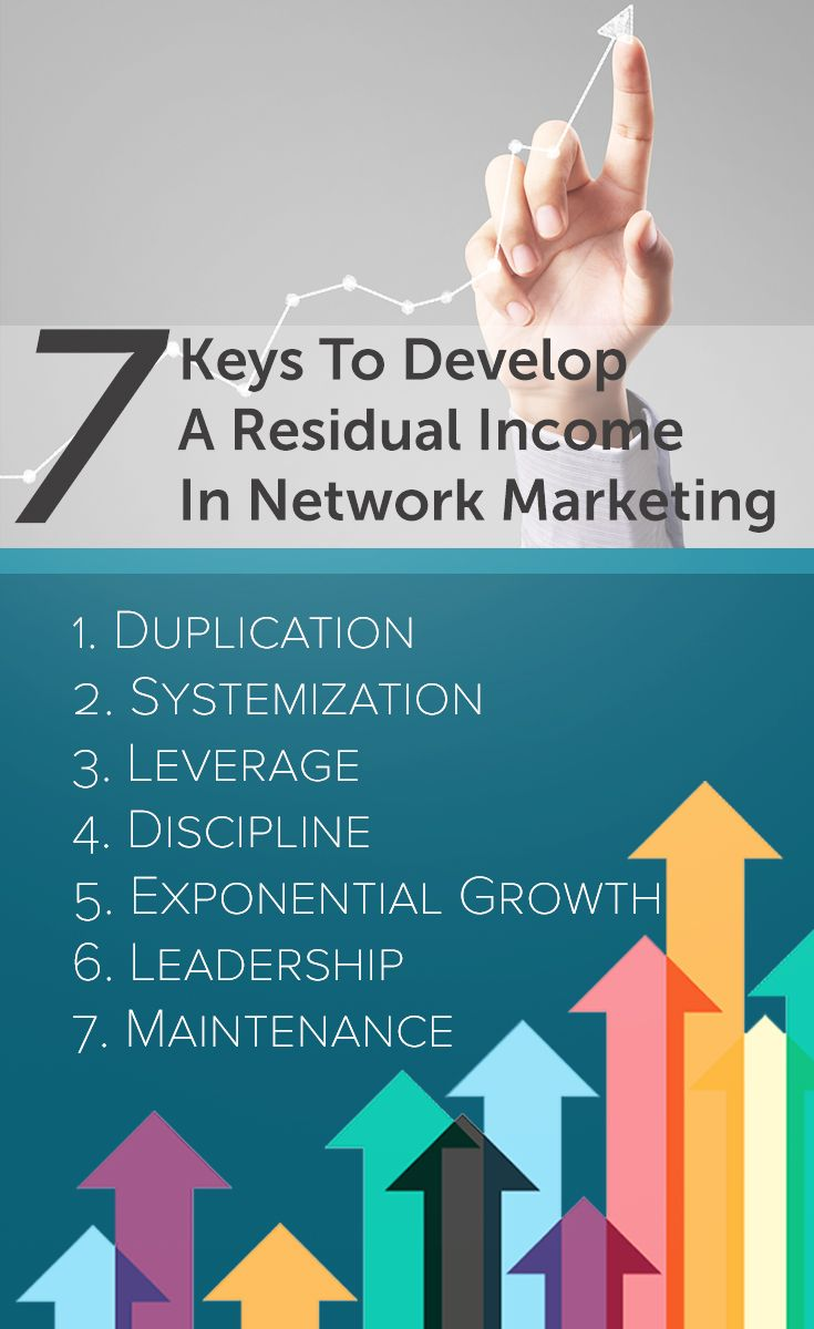 7 keys to develop a residual income in network marketing