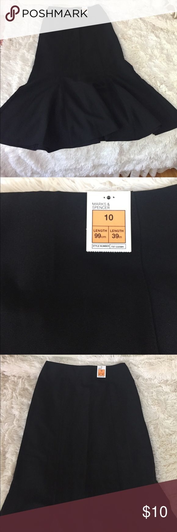 BRAND NEW Marks & Spencer Maxi Black skirt Brand new skirt. Size 10 European and 8 US. Marks & Spencer is a well known department store in Europe, similar to Nordstrom and Macy's in the US! Marks & Spencer Skirts Maxi