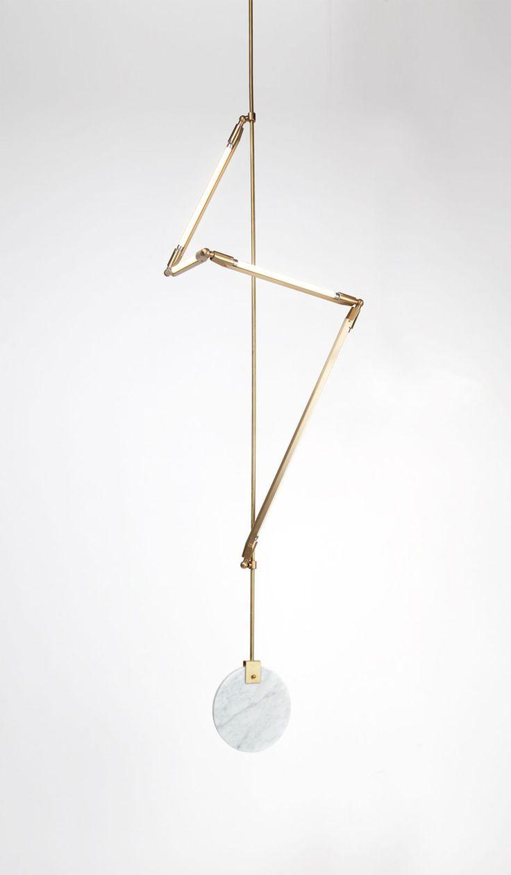 brass + light + marble + mobile