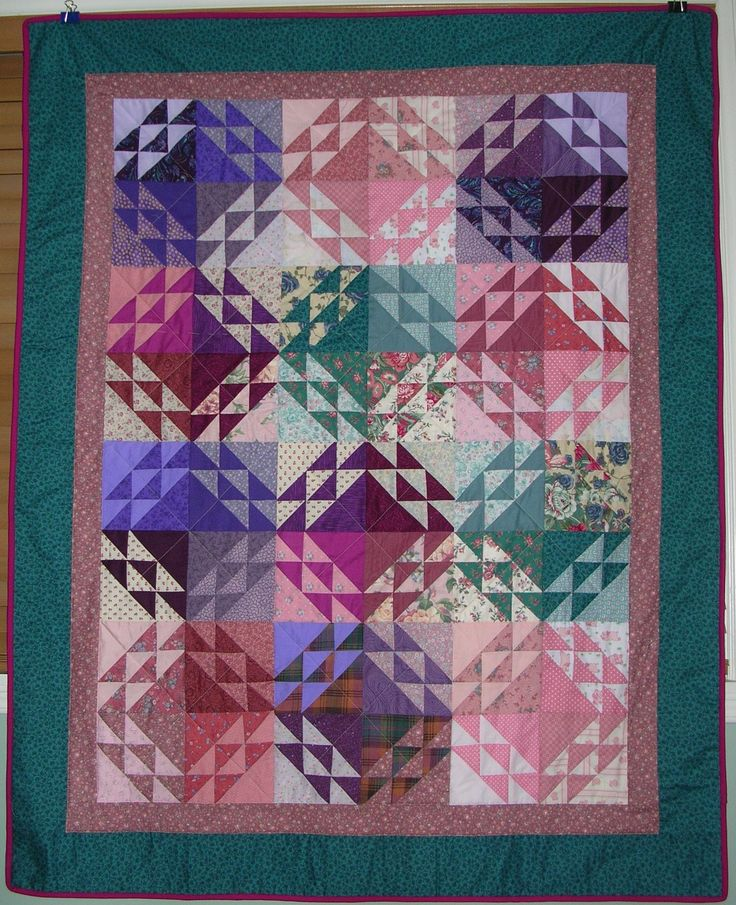 """Corn and Beans"" quilt: made for a favourite 2-year-old; done completely out of scraps."