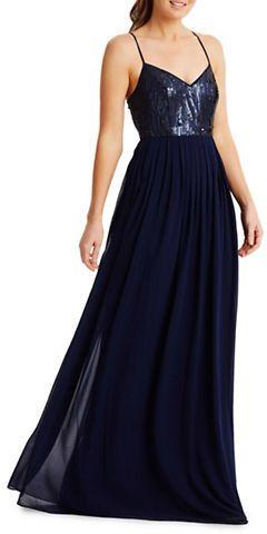 Donna Morgan Coco Beaded Bodice Chiffon Dress sale $99