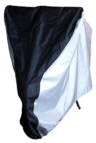 LotFancy Bike Cover - 190T Nylon Outdoor Waterproof Bicycle Storage Cover for Mountain Road Exercise Sport Bike, Black & Silver - http://mountain-bike-review.net/products-recommended-accessories/lotfancy-bike-cover-190t-nylon-outdoor-waterproof-bicycle-storage-cover-for-mountain-road-exercise-sport-bike-black-silver/ #mountainbike #mountain biking