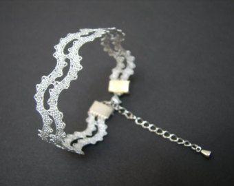 NEW | Wave Lace Bracelet || Minimalist Summer Lace Bracelet | Handmade Bobbin Lace Jewelry