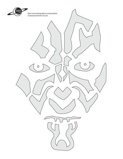 star wars pumpkin stencils - Star Wars Halloween Pumpkin Carving Patterns