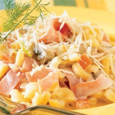 Macaronis au jambon et champignons - Recettes - Cuisine et nutrition - Pratico Pratique