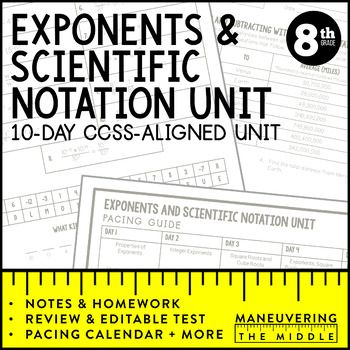 Math Operations Worksheet Excel Best  Scientific Notation Ideas On Pinterest  Square Roots  Vertical Angles Worksheet with Film Genre Worksheet A  Day Ccssaligned Exponents And Scientific Notation Unit  Including  Properties Of Exponents Worksheet On Punctuation For Grade 3