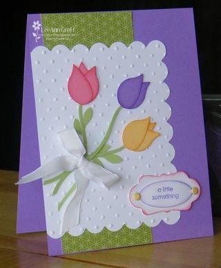 Bird Punch Stampin Up Tulip card