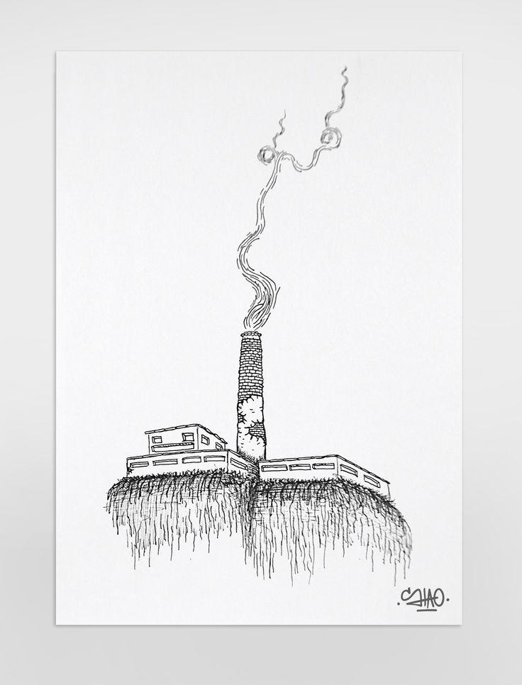 Contaminació fabril.  Factory pollution.