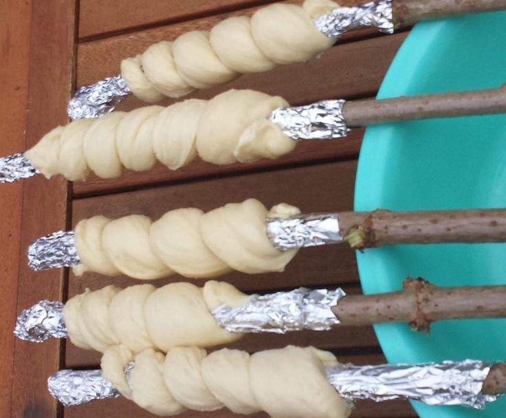 Rezept Süßes Stockbrot von Kati4Zwerge - Rezept der Kategorie Brot & Brötchen