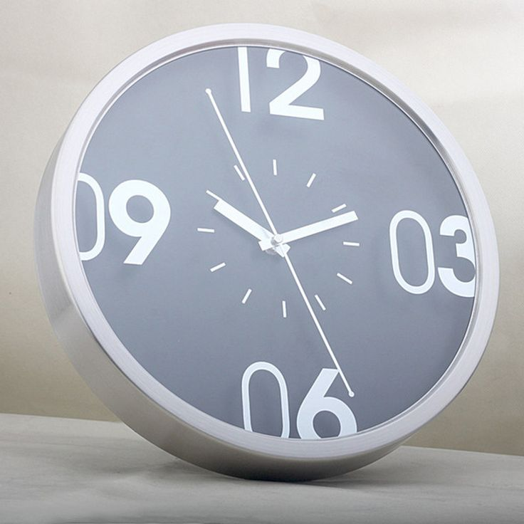 quieten large metal wall clock brief clock modern wall clock 14 stainless steel