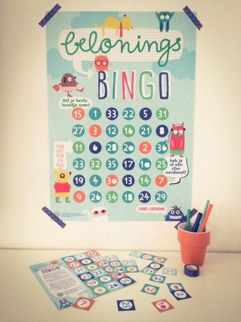Beloningsbingo poster