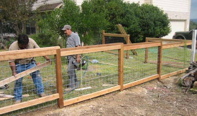 cattle fence residential | Pictures of Cattle Panel Fencing or Livestock Fencing - Austin, TX