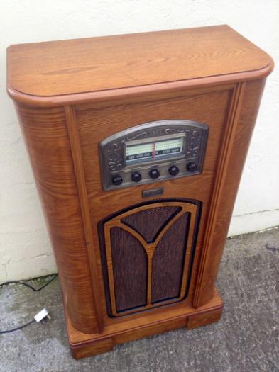 Floor Standing Retro Radio Working Order With Cassette