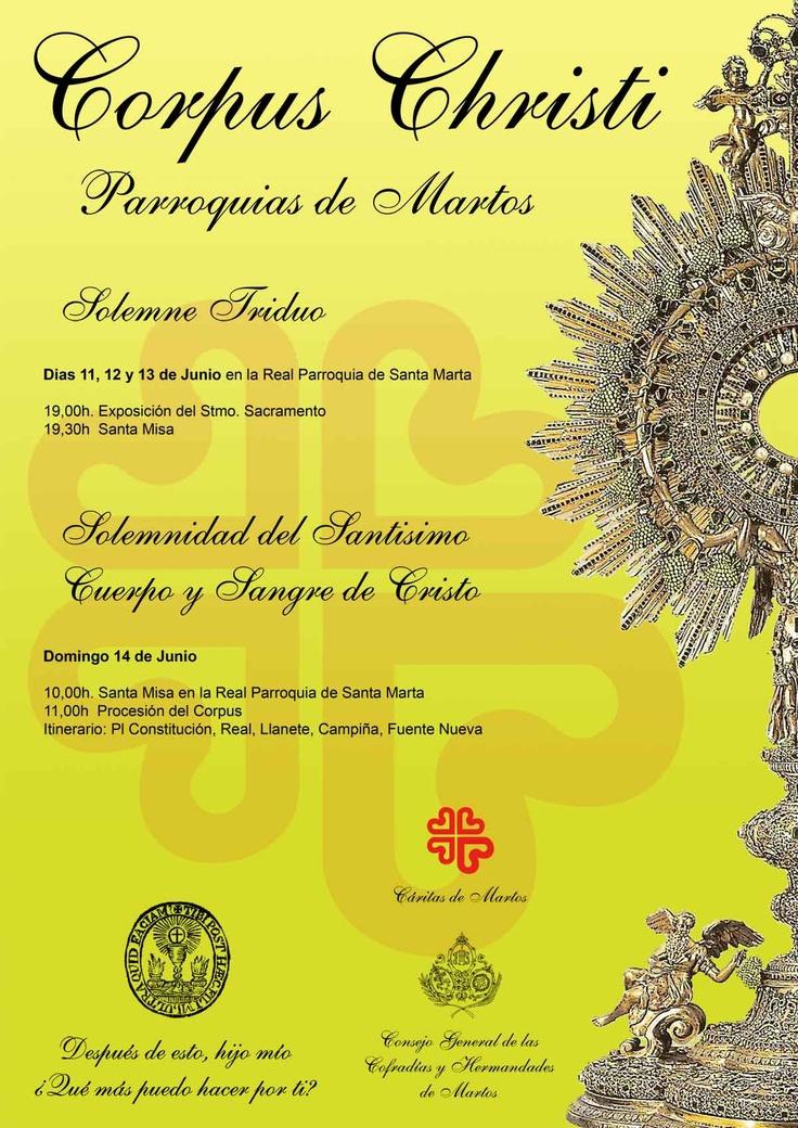 Cartel para el Corpus Christi en Martos