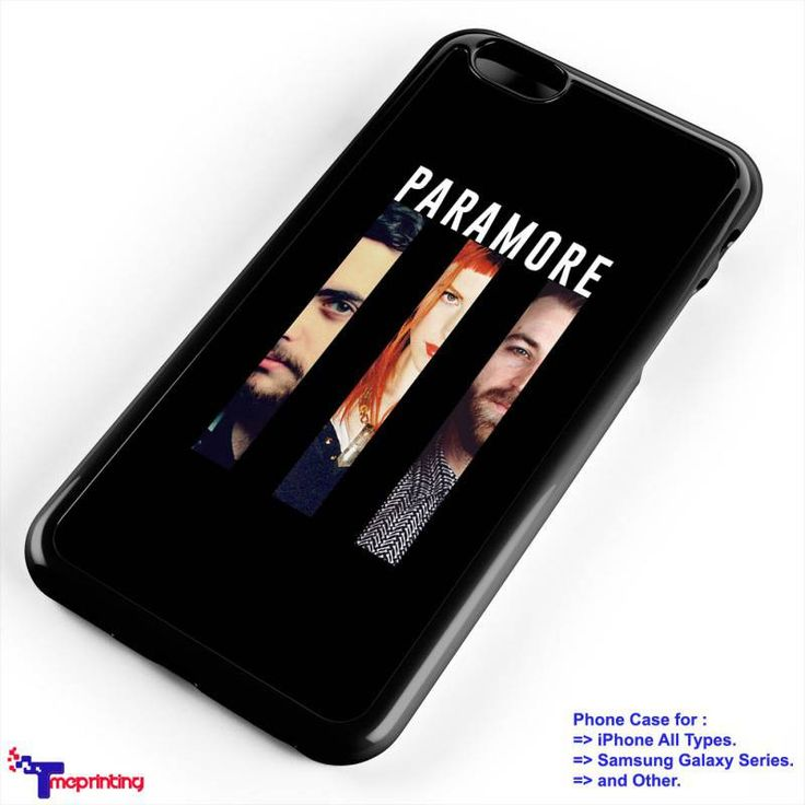 Paramore Band Merch - Personalized iPhone 7 Case, iPhone 6/6S Plus, 5 5S SE, 7S Plus, Samsung Galaxy S5 S6 S7 S8 Case, and Other