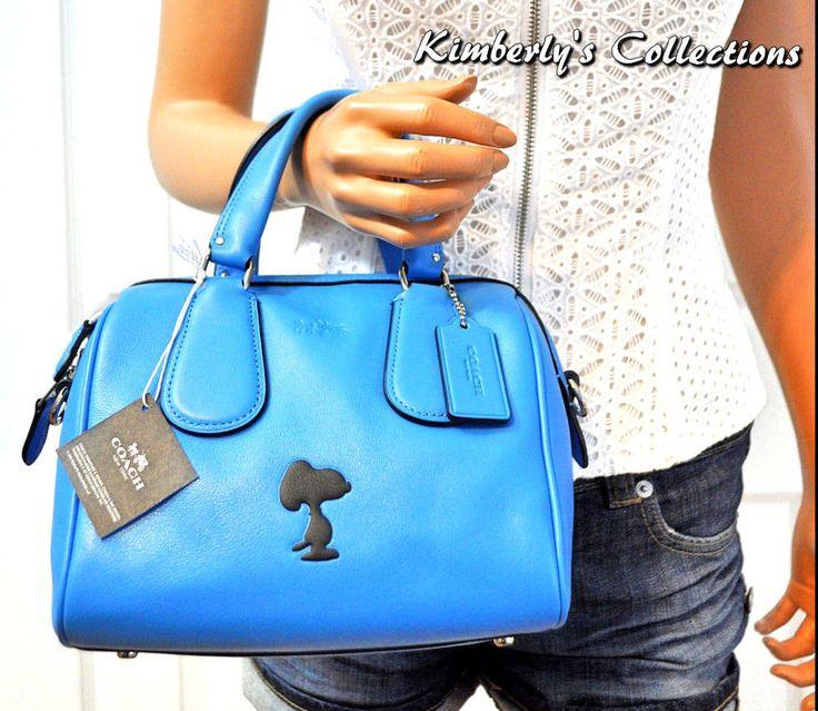 COACH X Peanuts SNOOPY LIMITED EDITION Mini Surrey Crossbody Satchel Bag   #Coach #Snoopy #Peanuts #handbags #purses #collectors