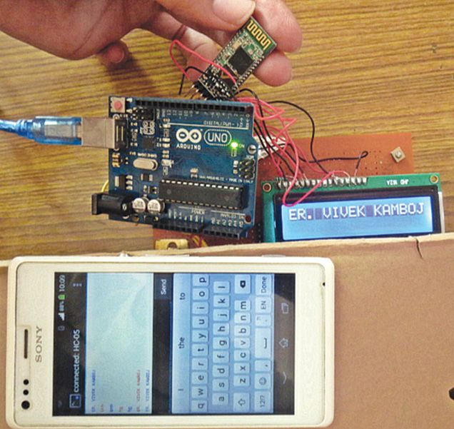 This project demonstrates the complete construction of Arduino LCD using Bluetooth Module. Source code Included within the article.