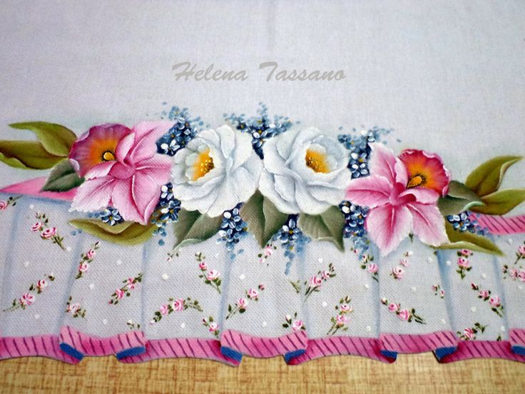 Helena Tassano Artesanato Pintura Em Tecido Aulas De